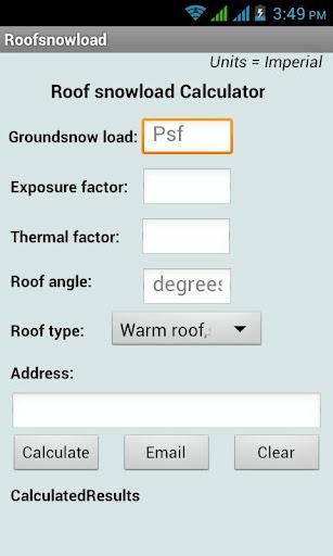 Roof Snow Load Calculator