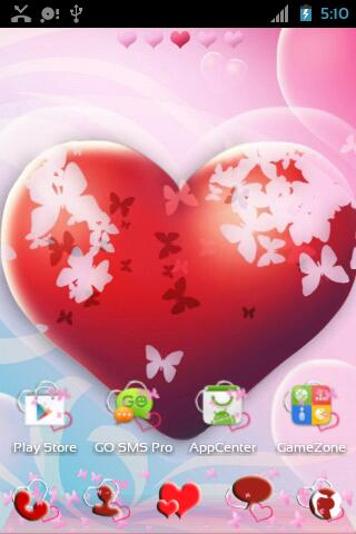 GO Launcher EX Theme Hearts- screenshot