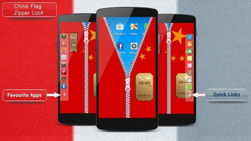 China Flag Zipper Lock