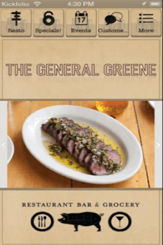 The General Greene Restaurant