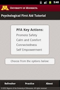 Psychological First Aid (PFA)- screenshot thumbnail