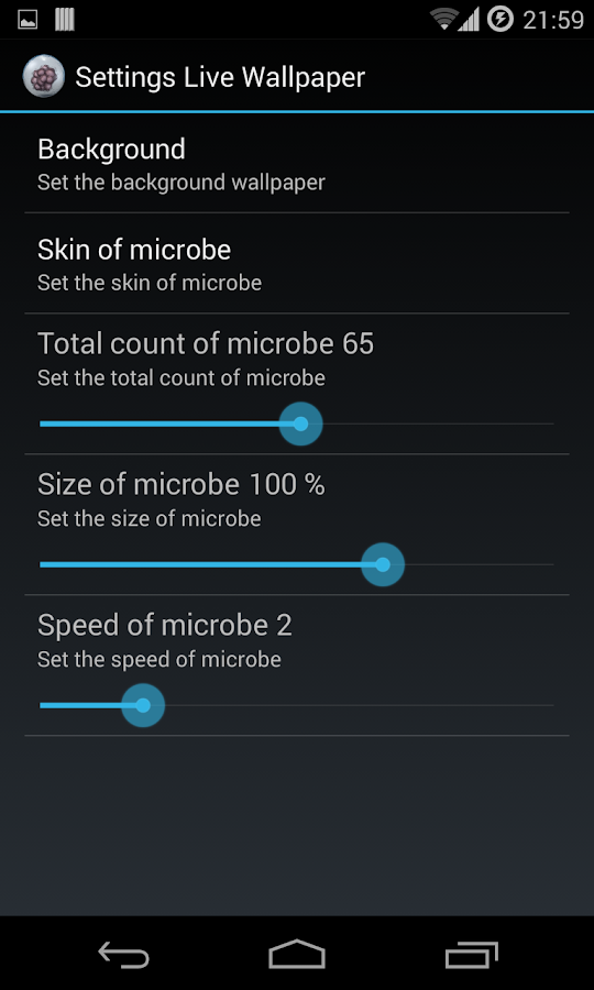 Microbe Live Wallpaper- screenshot