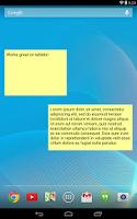 Screenshot of Simple Sticky Note Widget