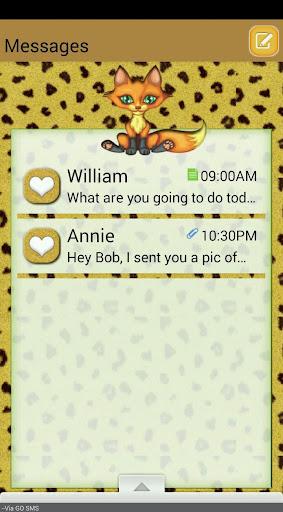 FoxyLeopard GO SMS THEME