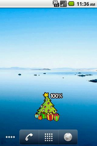Christmas tree Battery Widget
