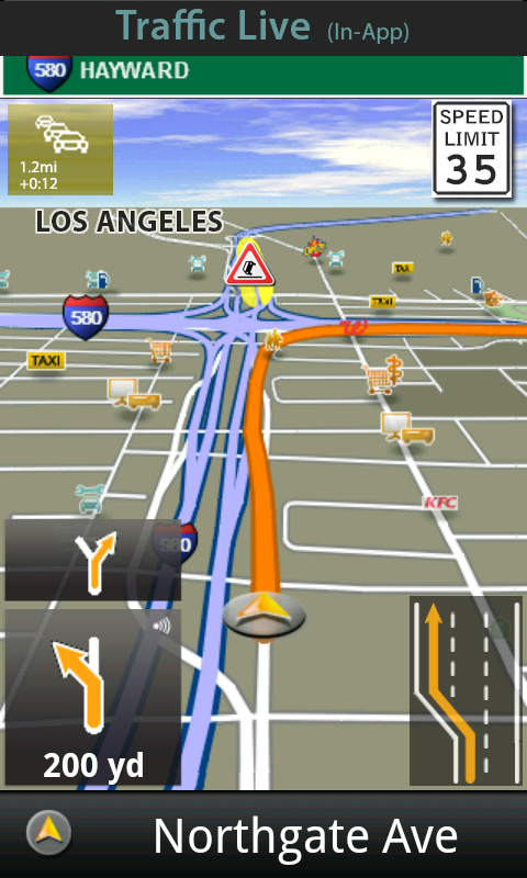 Garmin HUD North America - screenshot
