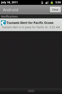 Pacific Ocean Tsunami Alerter - screenshot thumbnail