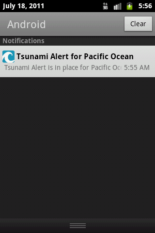 Pacific Ocean Tsunami Alerter - screenshot