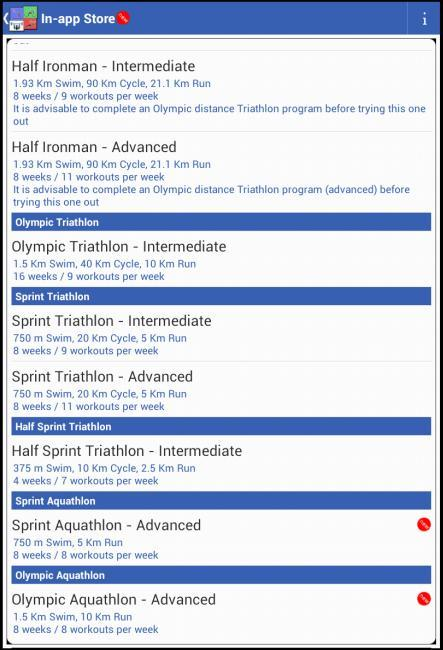 Megathlon : triathlon training- screenshot