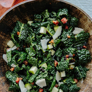 Kale with Apples, Currants, and Warm Pancetta Vinaigrette
