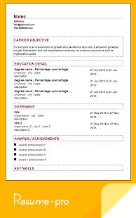 super resume pro screenshot thumbnail
