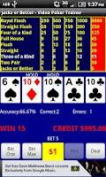 Screenshot of Video Poker - Jacks or Better