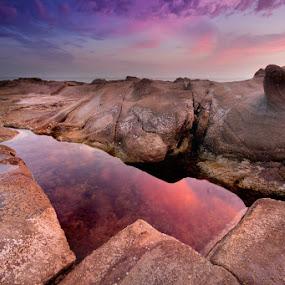 Rock reflection by Roberto Nencini - Landscapes Sunsets & Sunrises