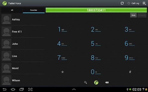 Tablet Voice - VoIP Phone - screenshot thumbnail