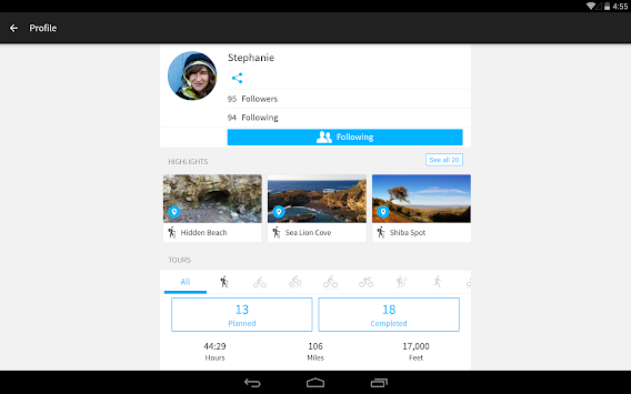 Komoot — Cycling & Hiking Maps APK screenshot thumbnail 10
