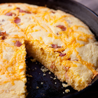 Bacon Cheddar Skillet Cornbread.