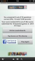 Screenshot of 2015 TV Trivia
