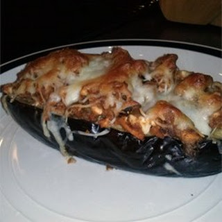 Eggplant Stuffed with Lamb and Feta