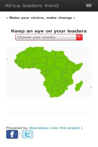 Africa leaders - screenshot