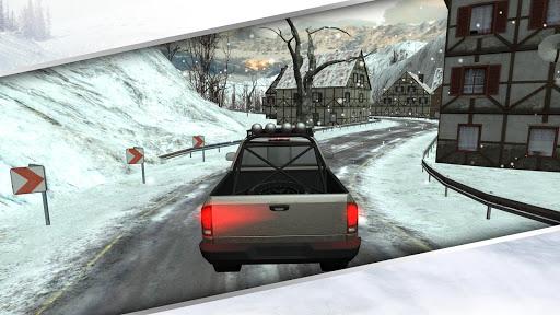 겨울 교통 자동차 운전 3D