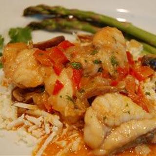 Thai Monkfish Curry.