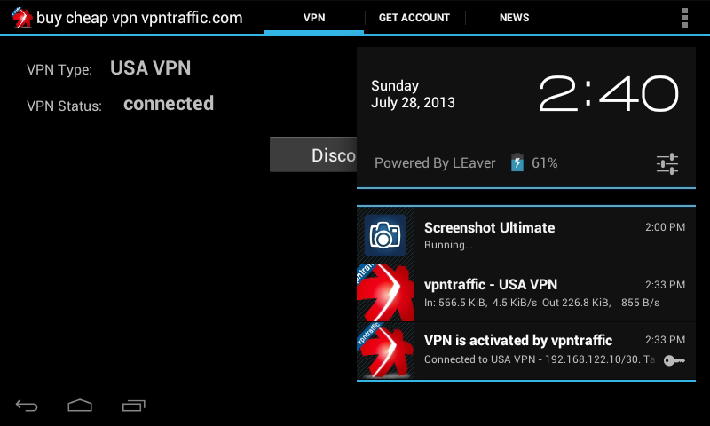 Vpntraffic client android 4- screenshot