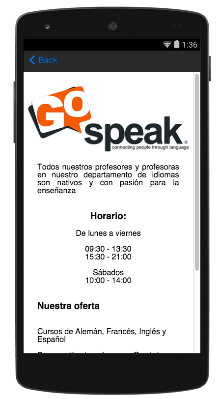 Go Speak- screenshot