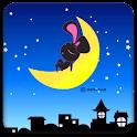 Rabbit on the moon Full Theme logo