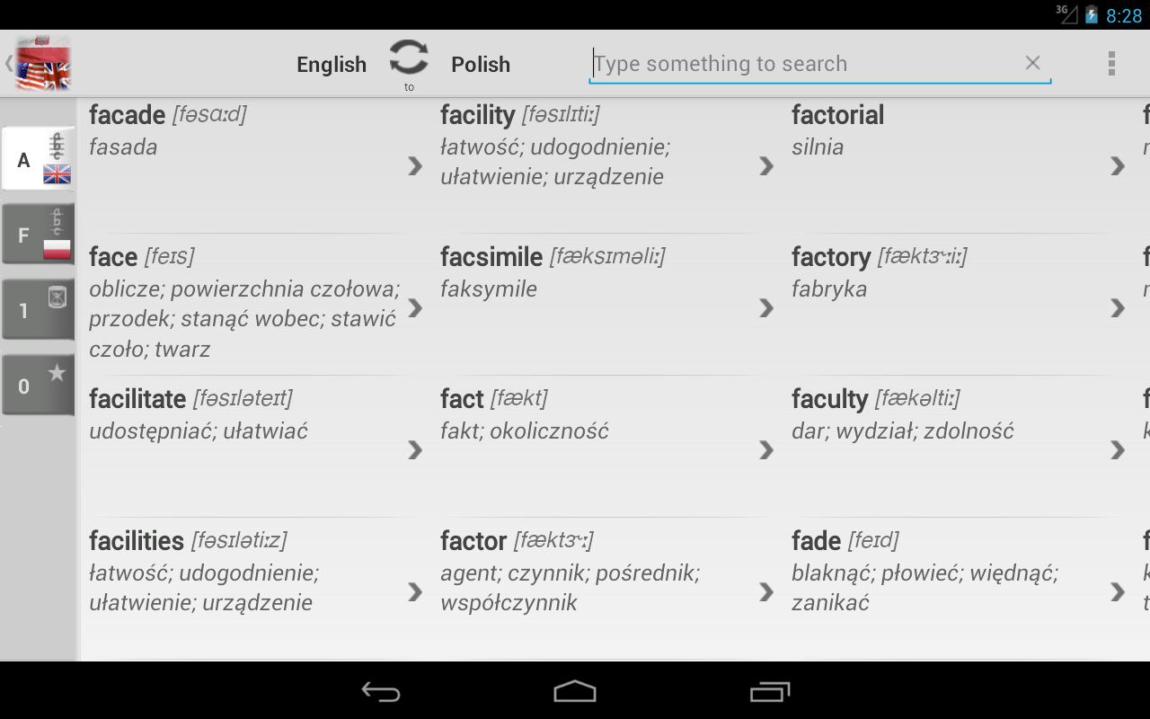 Free Dict Polish English - screenshot