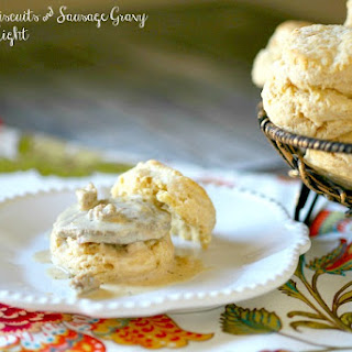 Lightened Biscuits & Sausage Gravy