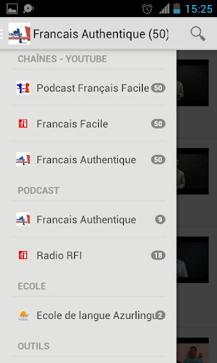 Authentic French podcast