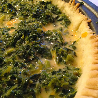 Spinach and Cheddar Cheese Quiche