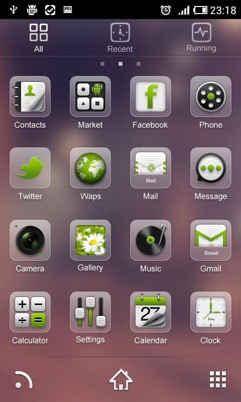 HyalineC GO LauncherEX Theme - screenshot