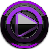 Poweramp skin Black Purple