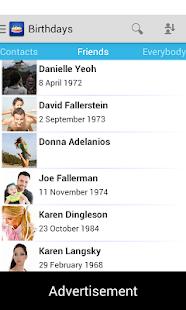 Дни рождения - бесплатно - screenshot thumbnail