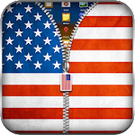 US Flag Zipper Lock 10.1 Apk