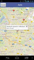 Screenshot of DSB Volksfestfinder