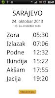 Screenshot of Vaktija Prayer Times
