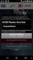 Screenshot of IGCSE Physics: Guru-App GCSE