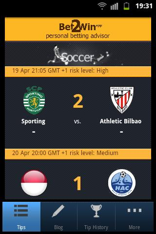 Bet 2 Win - Soccer Betting - screenshot