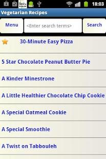 Veg Recipes- screenshot thumbnail