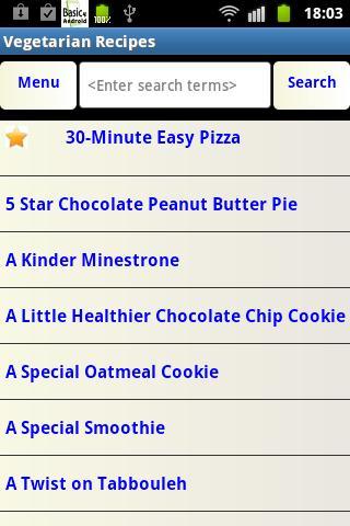 Veg Recipes- screenshot