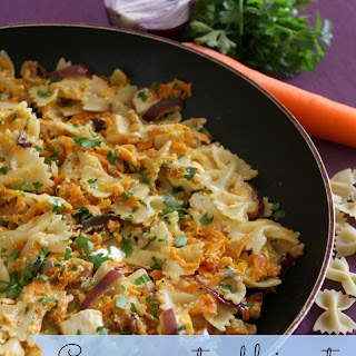 Creamy Carrot And Brie Pasta.