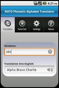 NATO Alphabet Translator- screenshot thumbnail
