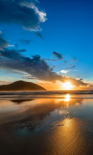 日出在海上生活壁紙