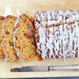 Cranberry Pumpkin Loaf Cake