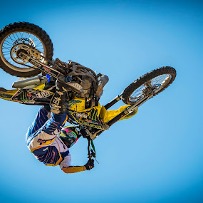 Head's Down by Daniel Craig Johnson - Sports & Fitness Motorsports ( rider, motocross, dirt road, action, africa, dirt, photography )