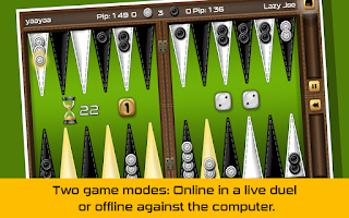 Screenshot of Backgammon Gold