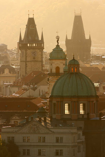 Czech-Prague-Old-Town - The cityscape of Old Town Prague in the Czech Republic.