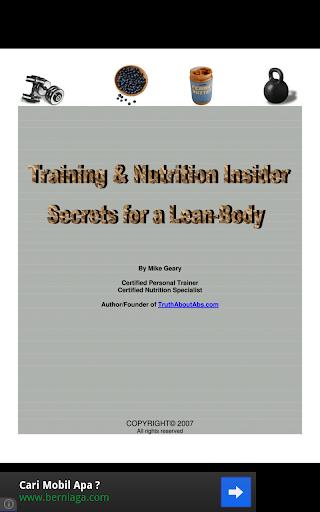 Insider Secret for a Lean-Body